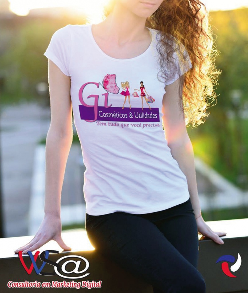 Gi cosméticos & utilidade - camisa-frente